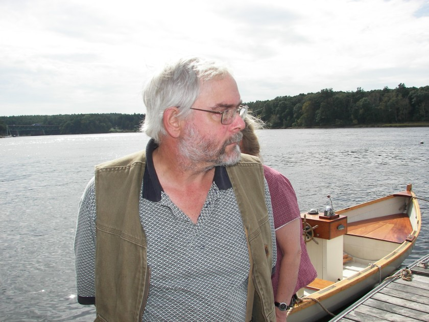 dad and a boat